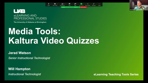 Thumbnail for entry Media Tools: Kaltura Video Quizzes