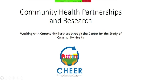 Thumbnail for entry Community Health Partnerships & Research