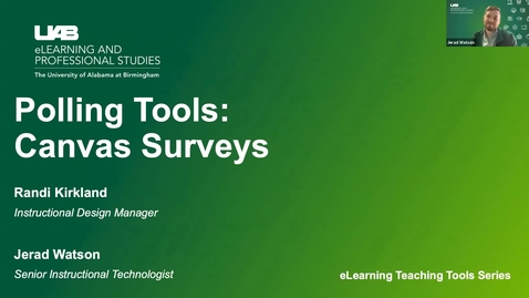 Thumbnail for entry Polling Tools: Canvas Surveys