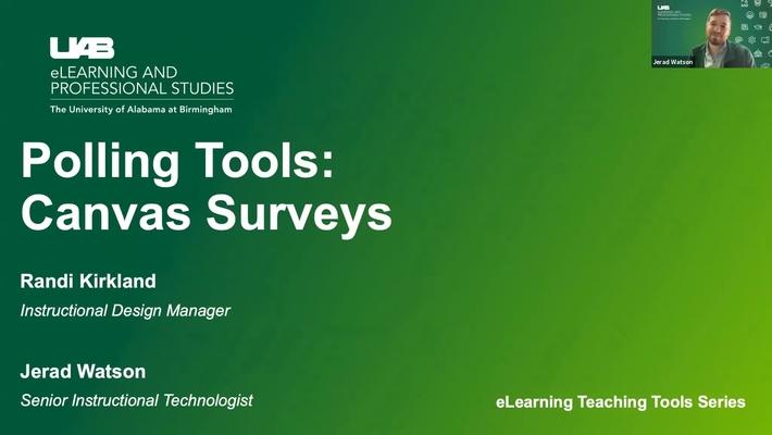 Polling Tools: Canvas Surveys