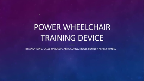 Thumbnail for entry Power Wheelchair Training Device