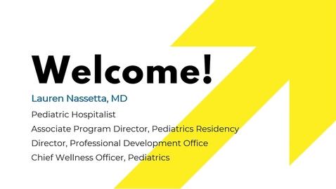 Thumbnail for entry Professional Development- Dr. Lauren Nassetta