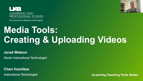 Thumbnail for entry Media Tools: Creating and Uploading Videos