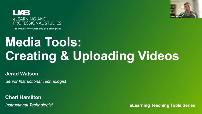 Media Tools: Creating and Uploading Videos