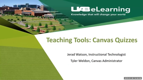 Thumbnail for entry Teaching Tools: Canvas Quizzes