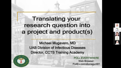 Thumbnail for entry Translating Your Research Question into a Project & Product