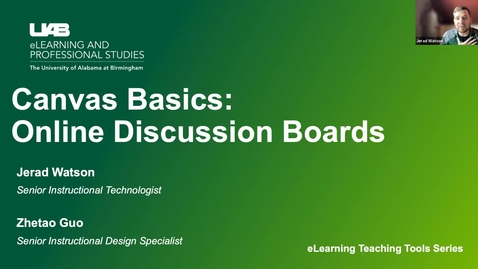 Thumbnail for entry Canvas Basics: Discussion Boards