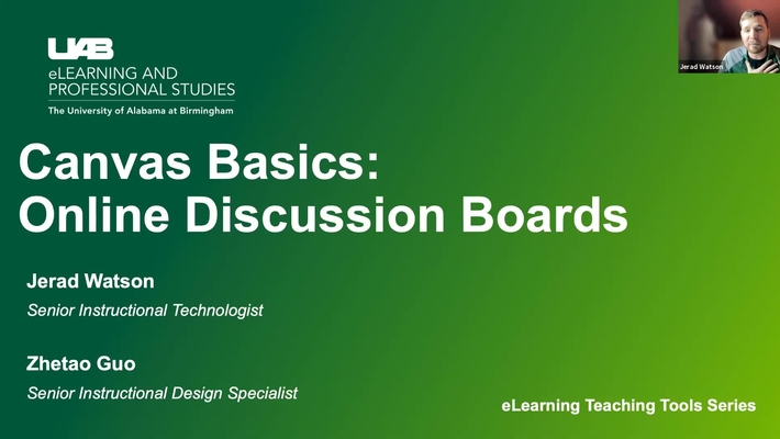 Canvas Basics: Discussion Boards