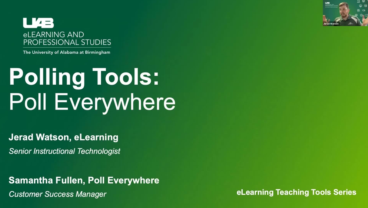 Polling Tools: Poll Everywhere