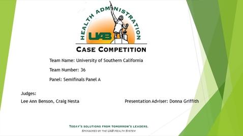 Thumbnail for entry Semi-Final - University of Southern California - 2021