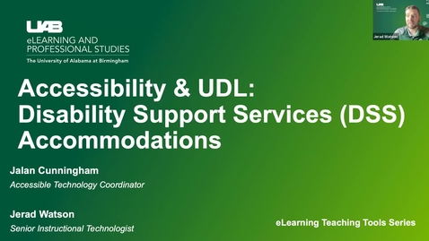 Thumbnail for entry Accessibility & UDL: Disability Support Services Accommodations