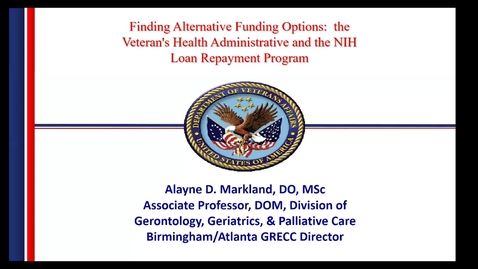 Thumbnail for entry Finding Alternative Funding Options: VHA & NIH Repayment Program