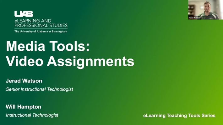 Media Tools: Video Submission Assignments