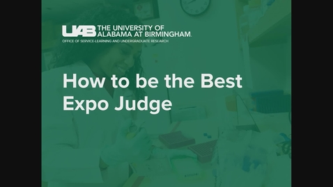 Thumbnail for entry Expo Judge How to Judge