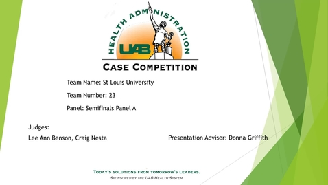 Thumbnail for entry Semi-Final - Saint Louis University - 2021