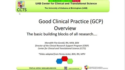 Thumbnail for entry Good Clinical Practices for Research Teams/IRB Orientation
