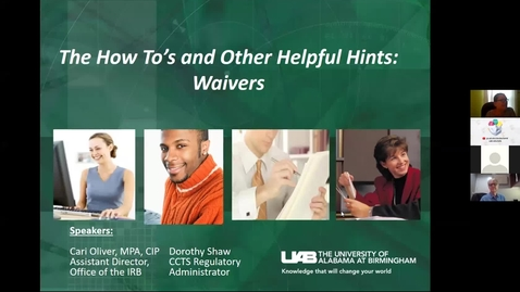 Thumbnail for entry Waivers: How to's & Helpful Hints