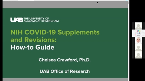 Thumbnail for entry NIH COVID-19 Supplements & Revisions