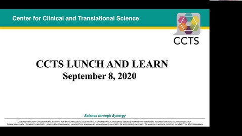 Thumbnail for entry CCTS Lunch & Learn Sept. 8, 2020
