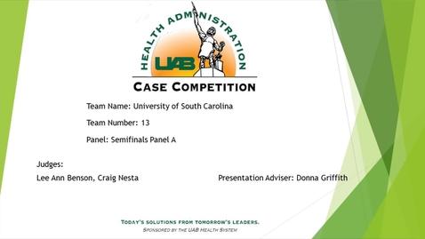 Thumbnail for entry Semi-Final - University of South Carolina - 2021