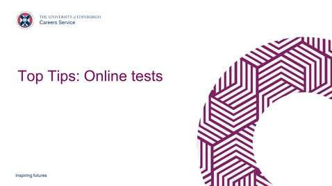 Thumbnail for entry Top Tips: Introduction to online tests