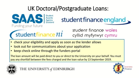 Thumbnail for entry Guidance on paying your fees on time