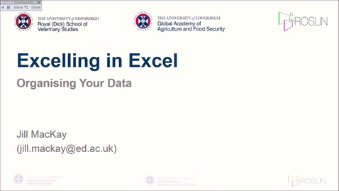 Thumbnail for entry Excelling in Excel: Data Organisation