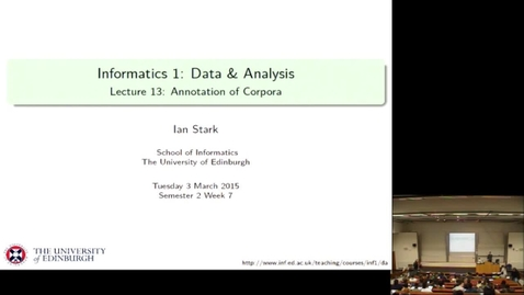 Thumbnail for entry Annotation of Corpora