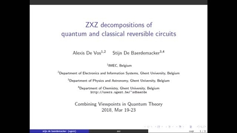 Thumbnail for entry Combining Viewpoints in Quantum Theory, de Baerdemacker