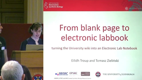 Thumbnail for entry 10 - From Blank Page to Electronic Labbook