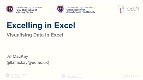 Thumbnail for entry Excelling in Excel: Data Visualisation