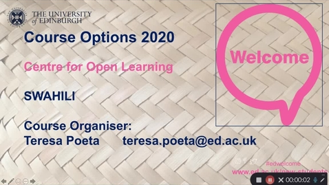 Thumbnail for entry Swahili Language courses: UG and PG - Course Options 2020