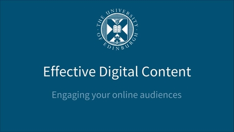 Thumbnail for entry Introduction to Effective Digital Content