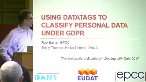 Thumbnail for entry 13 Using Data to Classify Personal Data Under GDPR