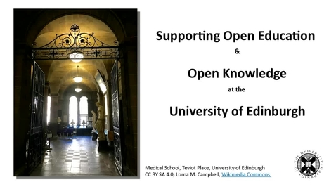 Thumbnail for entry Supporting Open Education & Open Knowledge at the University