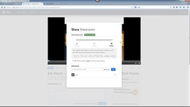 Thumbnail for entry Prezi Tutorial: Sharing and downloading your finished presentation