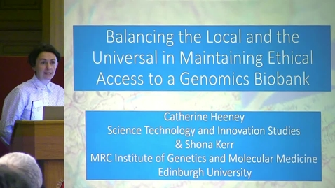 Thumbnail for entry 5 - Balancing the Local and the Universal in Maintaining Ethical Access to a Genomics Biobank