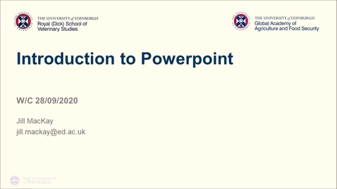 Thumbnail for entry Professional skills for GAFS (1) - Week 2- Intro to Powerpoint