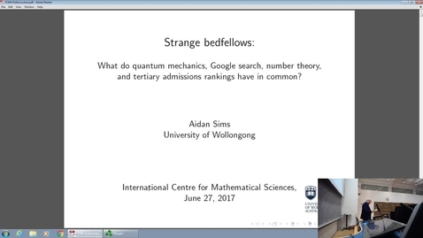 Thumbnail for entry Strange Bedfellows, Aidan Sims Public Lecture, June 2017