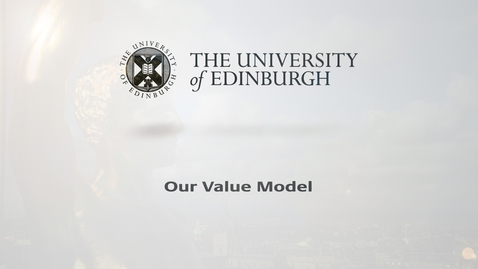Thumbnail for entry Our Value Model