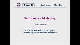Thumbnail for entry 9.3 Reader-Writer Example: Generating Performance Measures