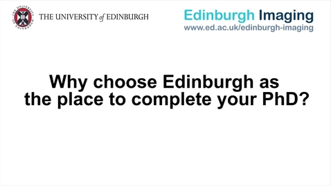 Thumbnail for entry Dr Stewart Wiseman - Why choose Edinburgh as the place to complete your PhD?