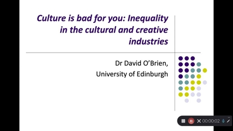 Thumbnail for entry Culture and inequality part 1- consumption