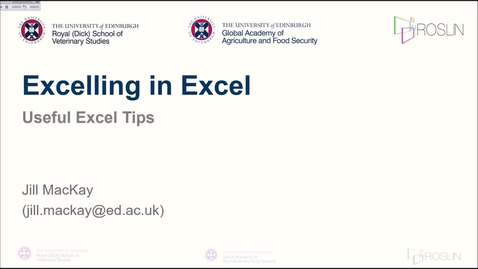 Thumbnail for entry Excelling in Excel: Tips and Tricks
