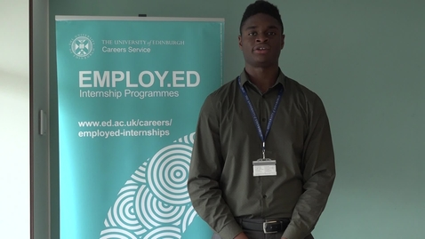Thumbnail for entry Employ.ed on Campus Case Study - Osariemen Erhahon