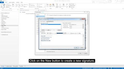 Thumbnail for entry MS Outlook 2013 Tutorial: Creating a new signature