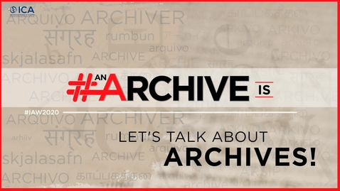 Thumbnail for entry Archives Chat: Lorraine McLoughlin on Collecting COVID-19 Initiative