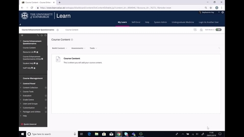 Thumbnail for entry Course Enhancement Questionnaires Video