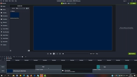 Thumbnail for entry Customise and use the School template in Camtasia