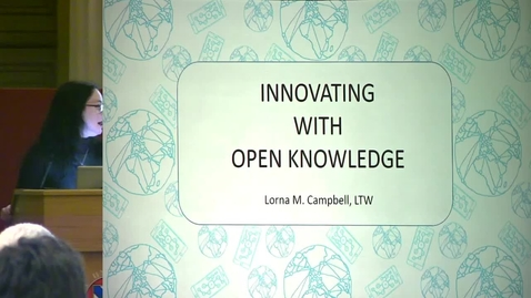 Thumbnail for entry 2 - Innovating With Open Knowledge